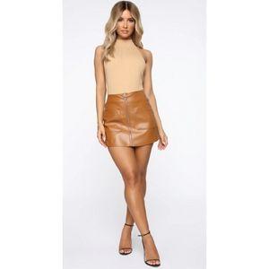 Brown Fashion Nova skort NWOT medium